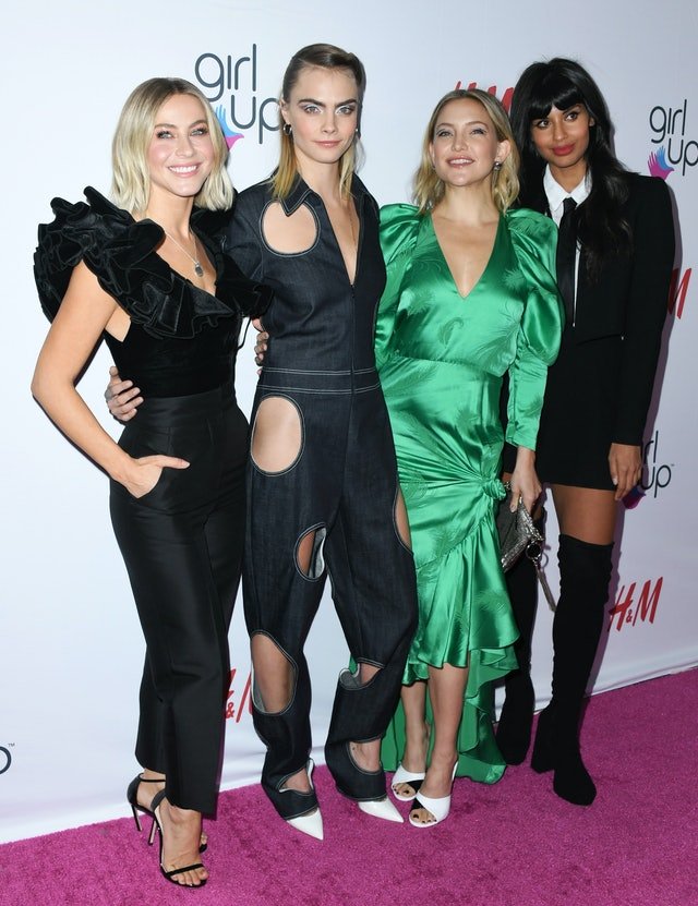 Cara Delevingne's white eyeshadow at the second annual Girl Up GirlHero Awards