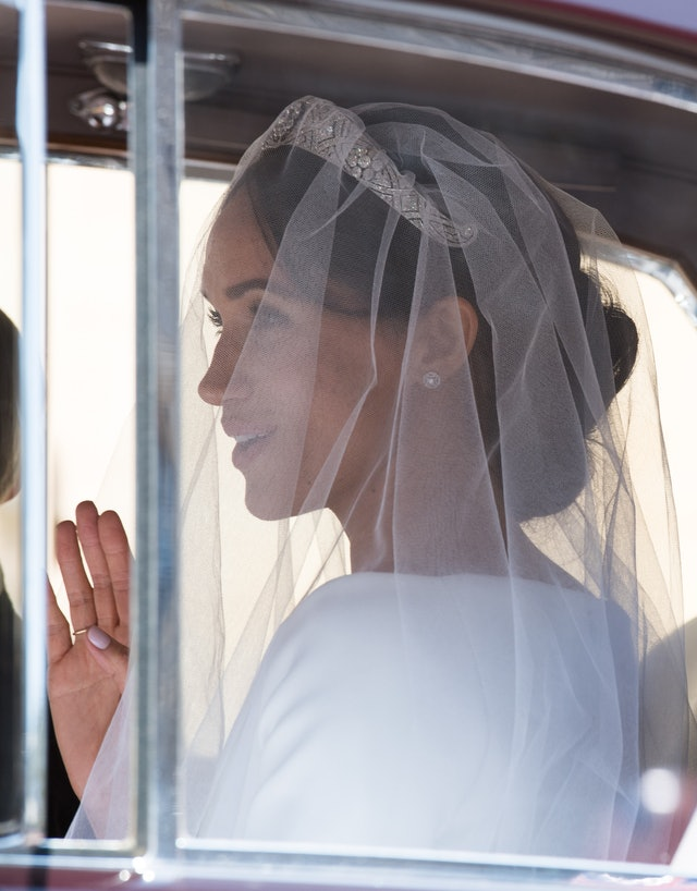 Meghan Markle debuted a royal-approved pink manicure on her wedding day