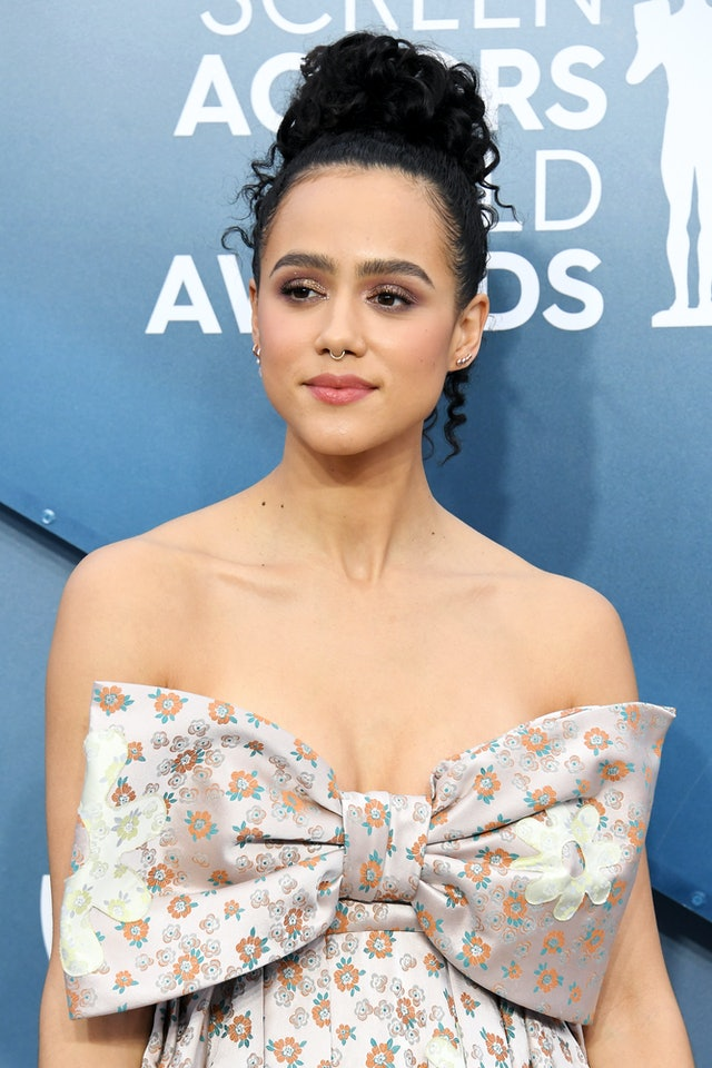 Nathalie Emmanuel was one of the top 2020 SAG Awards beauty looks of the night