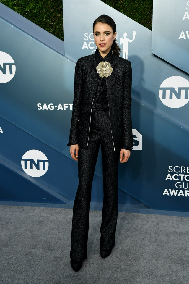 Margaret Qualley wore pants to the 2020 SAG Awards