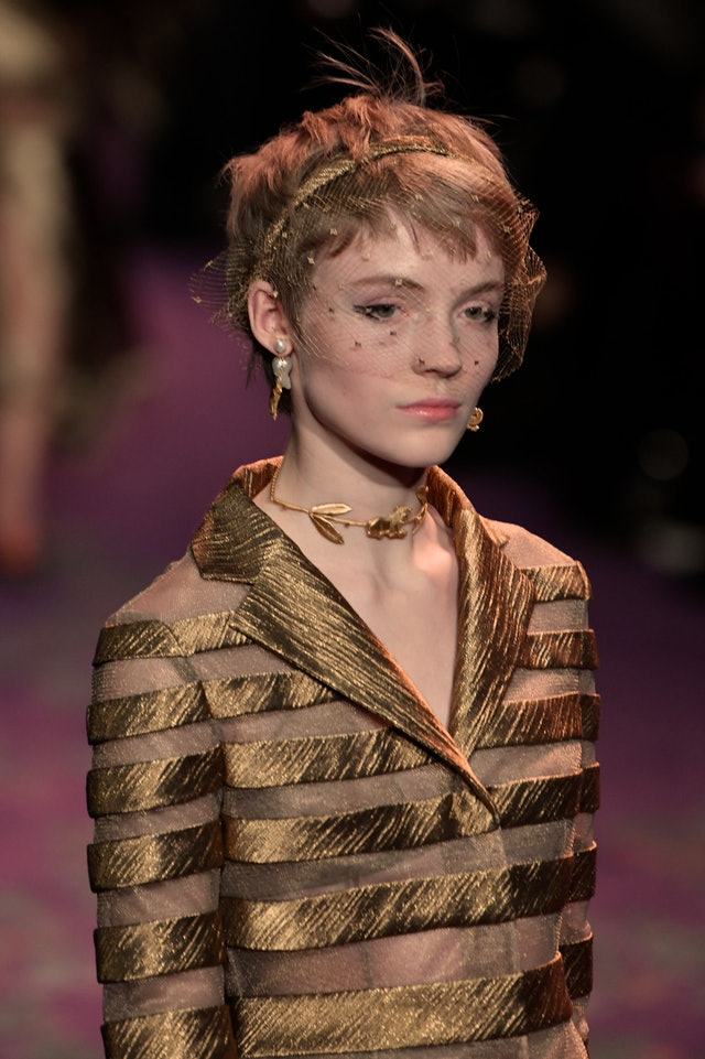 Haute Couture Spring 2020 hair accessories by Dior.