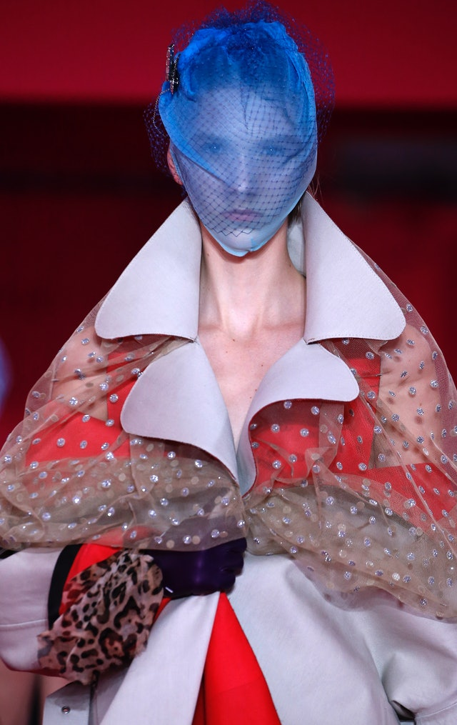 Haute Couture Spring 2020 hair accessories from Maison Margiela.