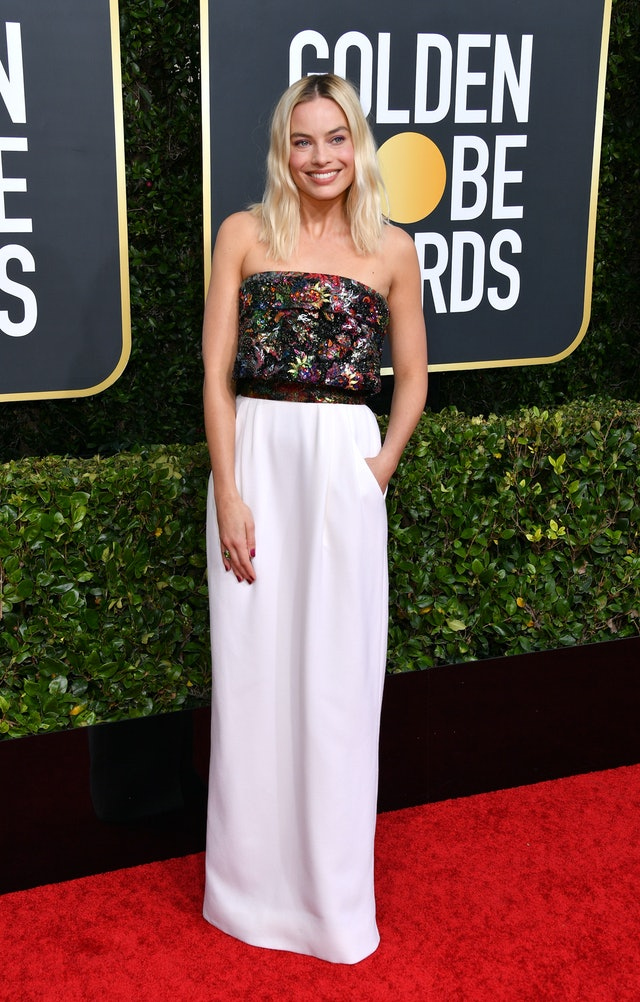 Margot Robbie's 2020 Golden Globes dress from the Chanel couture collection