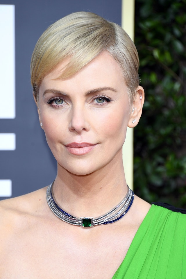 Virtue's new Healing Oil on Charlize Theron