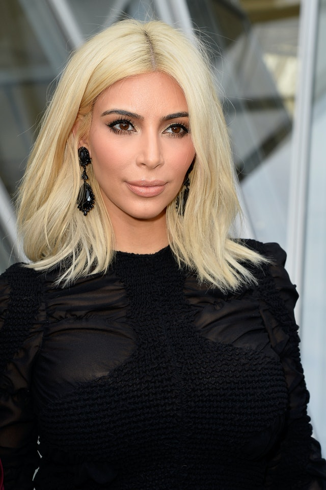Kim Kardashian's platinum blonde bob is one her most memorable hair moments