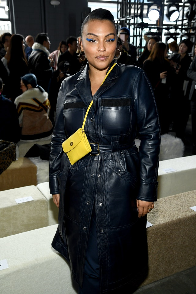 Paloma Elsesser's Blue Eyeliner At The Coach Fall/Winter 2020 Show