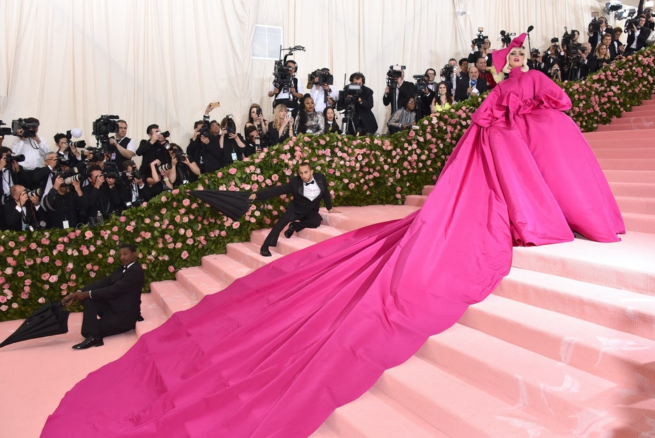 Lady Gaga wears Brandon Maxwell to the 2019 Met Gala.