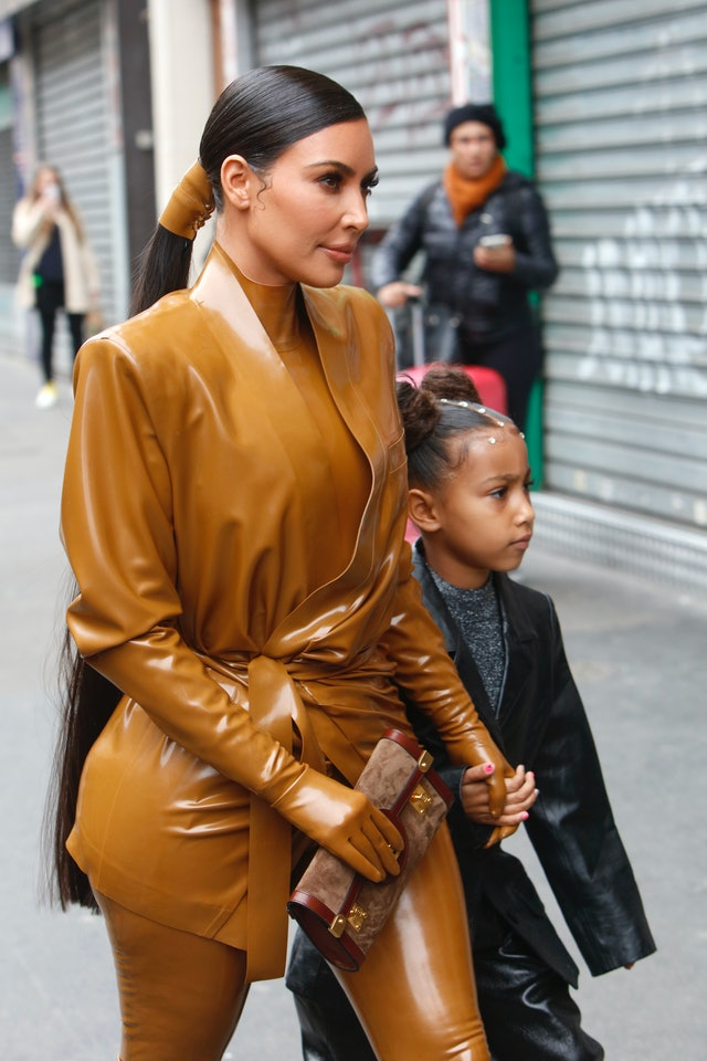 Kim Kardashian wore her longest ponytail yet during Paris Fashion Week
