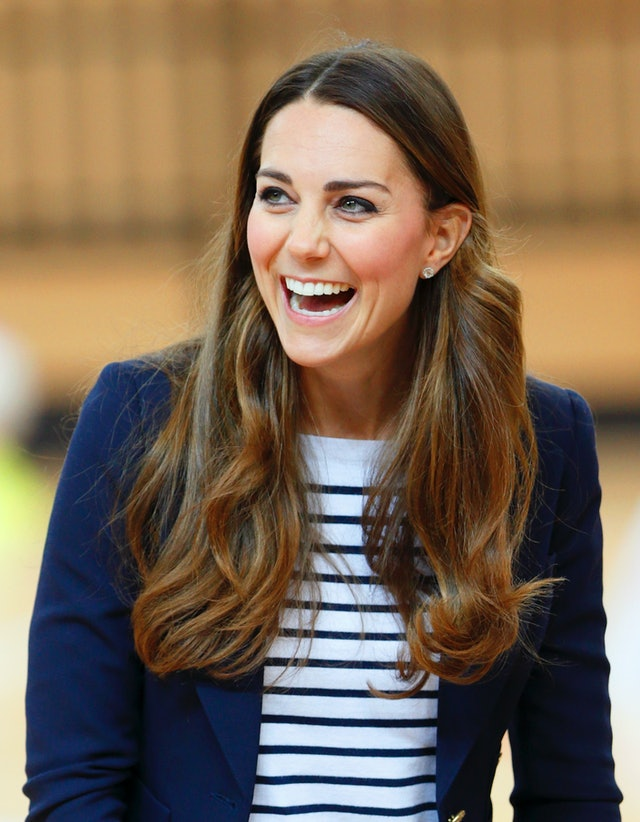 One of Kate Middleton's best haircuts is when it was long and middle parted