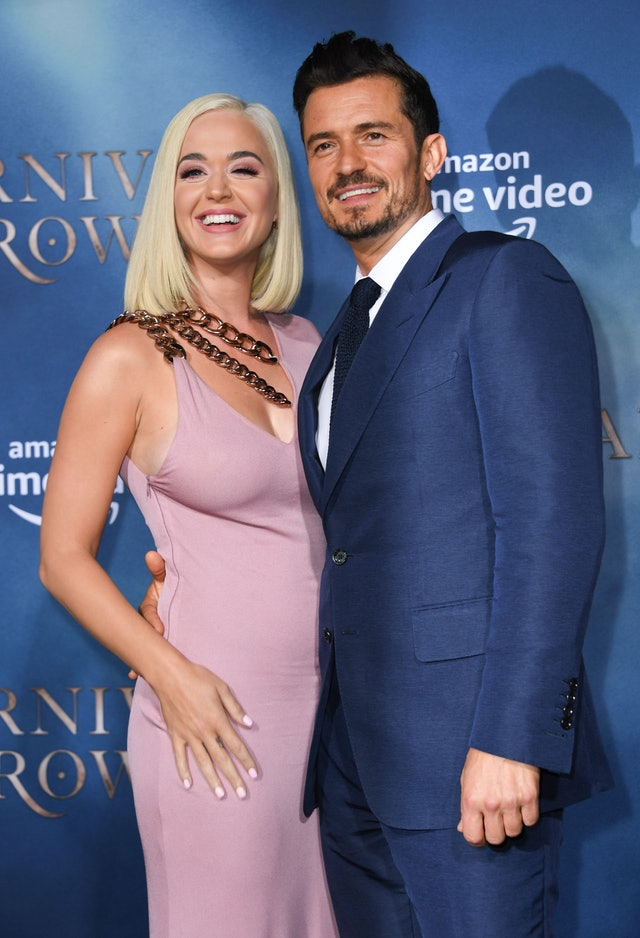 Katy Perry and fiancé Orlando Bloom. Katy Perry is pregnant.