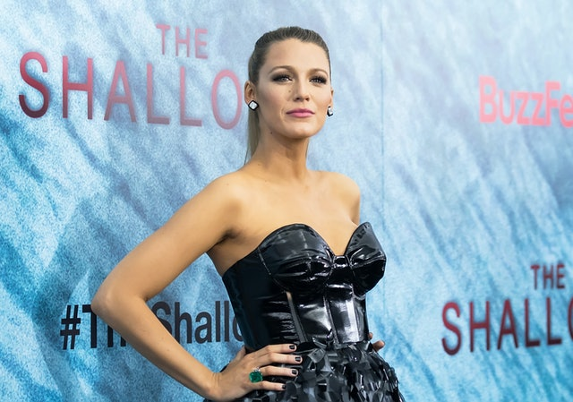 Blake Lively's favorite nail polish colors sometimes include black when she wants an edgier vibe