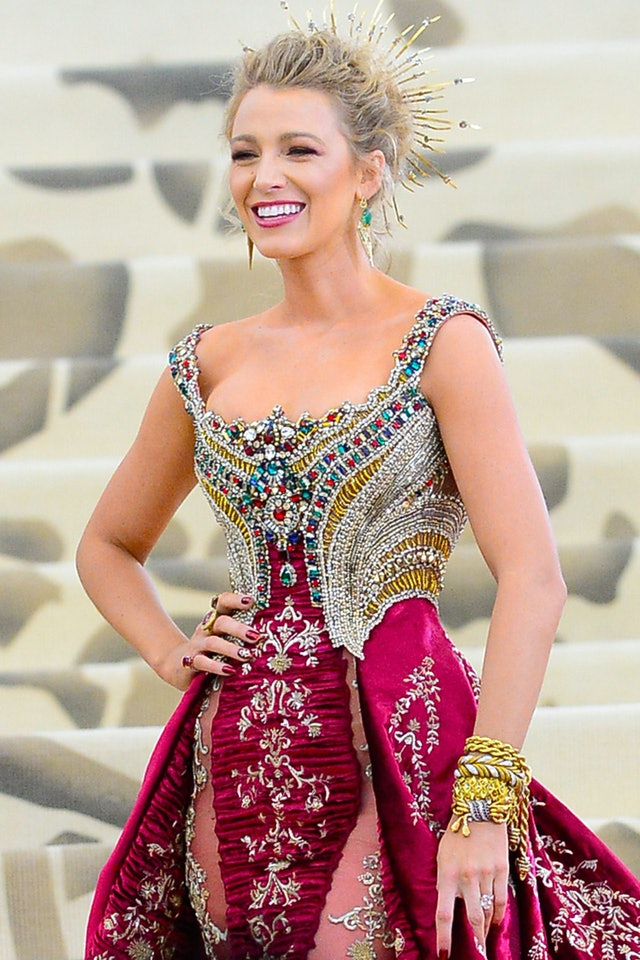 Blake Lively's favorite nail polish colors include the red shade she wore at the 2018 Met Gala