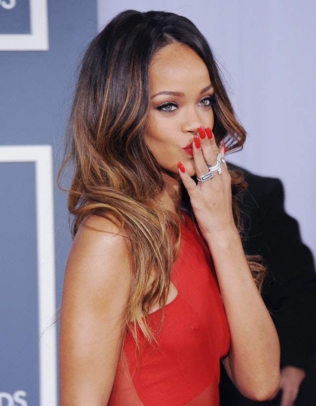 Red nails go with just about any color or pattern