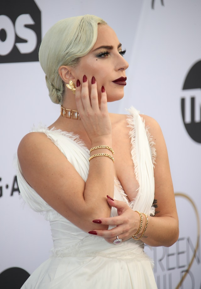 Berry-colored nails are a red-carpet classic that Lady Gaga has worn