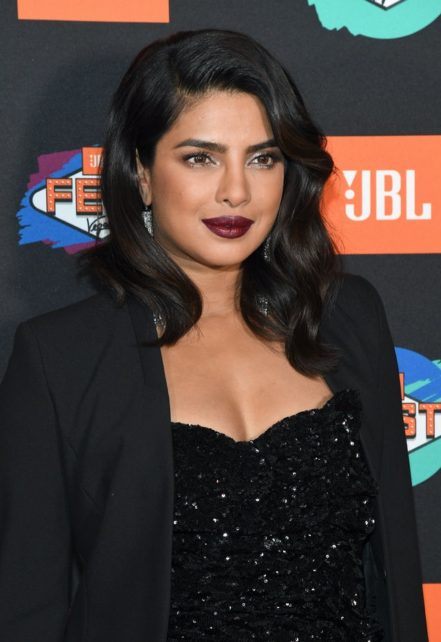 Priyanka Chopra wears one of fall's best lipstick colors maroon