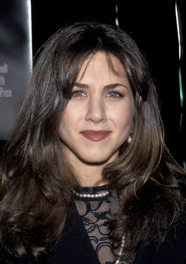 Aniston has tried out brunette hair and bold brows in the past.