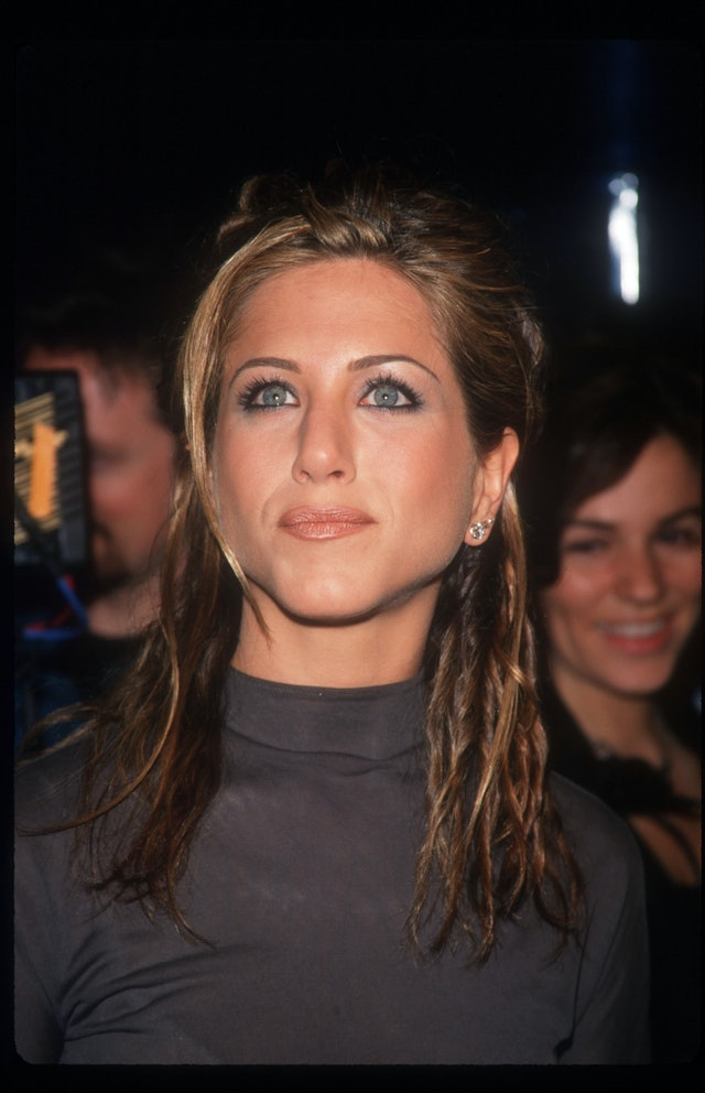 Aniston's makeup in the '90s was the epitome of the decade's glam grunge style.