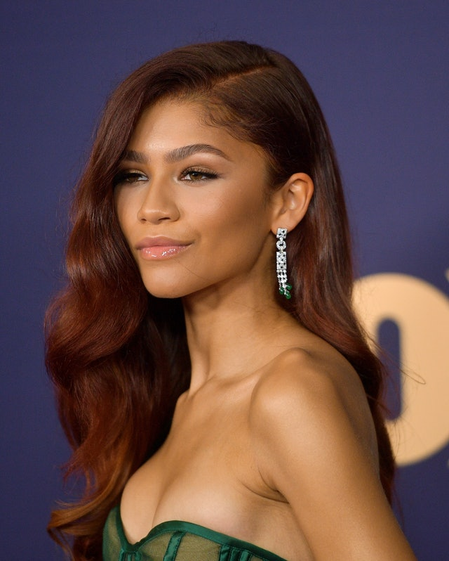 Zendaya's mahogany shade is a red hair color idea worth trying