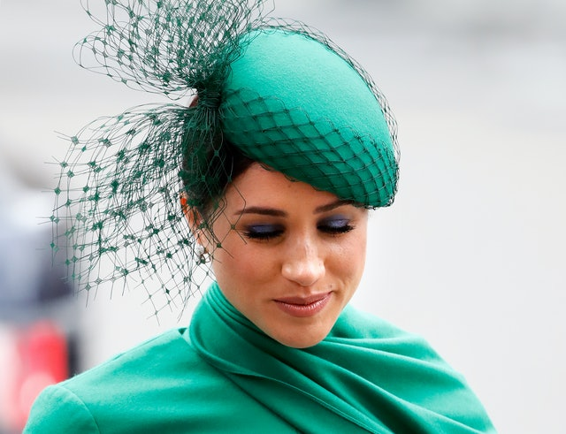Markle wore blue eyeshadow to the 2020 Commonwealth Day Service.