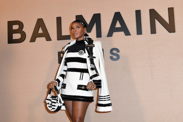 Janelle Monáe's chic braid features a variety of clips.