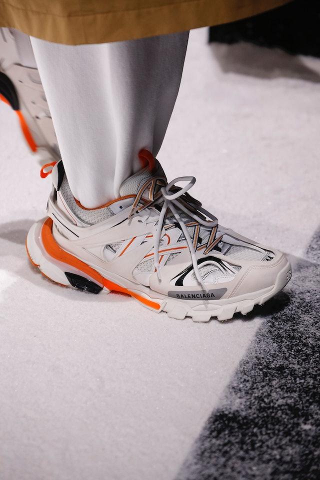 Balenciaga Sneakers Triple S Calfskin Mesh Beige-combo in