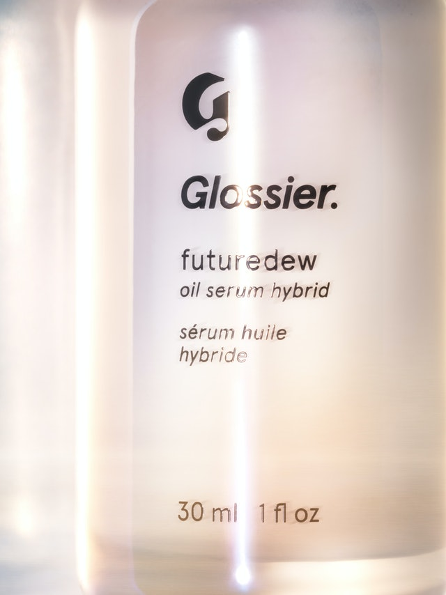 Glossier's new Futuredew serum up close
