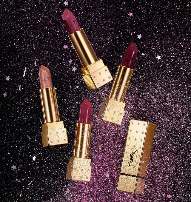 YSL Beauty's Rouge Pur Couture Holiday Edition features four winter lipstick shades that are perfect for holiday parties.