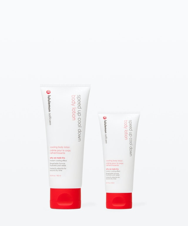 Two sizes of lululemon's new Speed Up Cool Down Body Lotion