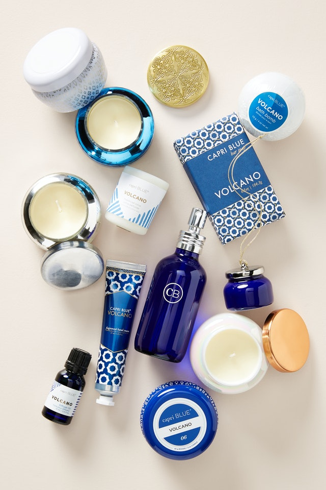 All products inside Anthropologie's Capri Blue 12 Days of Volcano Holiday Gift Set