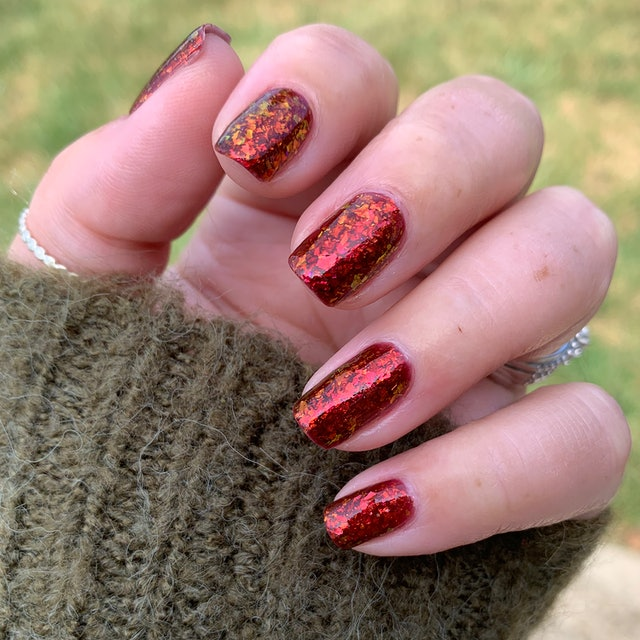 New nail launches include this flaky glitter jelly shade from KBShimmer