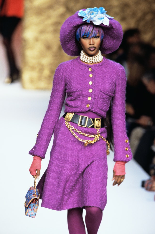 Naomi Campbell runway