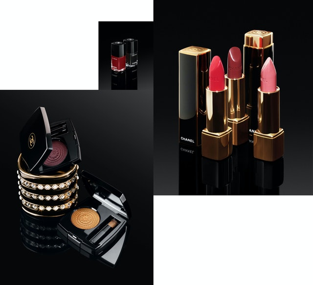 Chanel holiday 2019 makeup collection has glamorous packaging inspired by vintage Chanel pieces.
