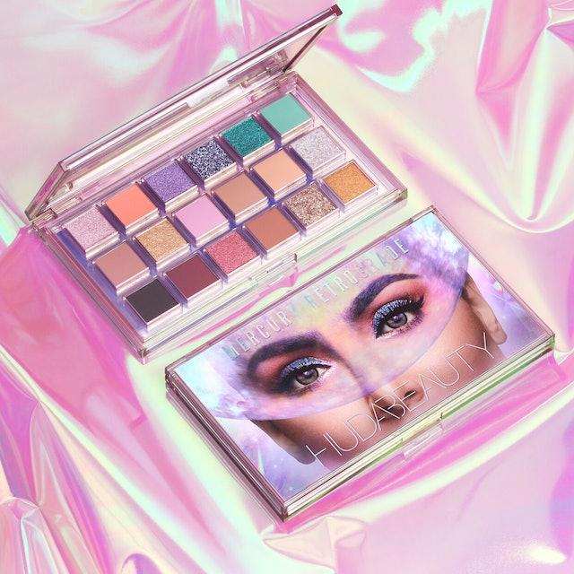 Huda Beauty's new Mercury Retrograde palette packaging and inside