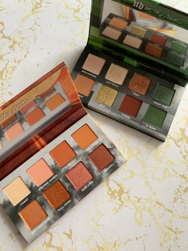 Urban Decay's new On The Run Mini Eyeshadow Palettes, Highway Queen and G Train