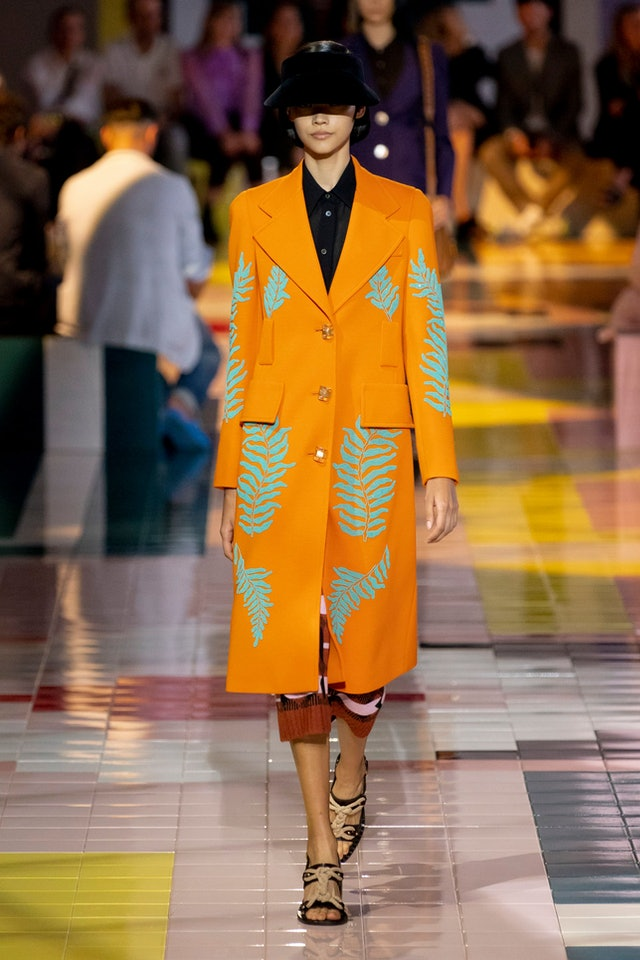 Spring 2020 Orange trend at Prada