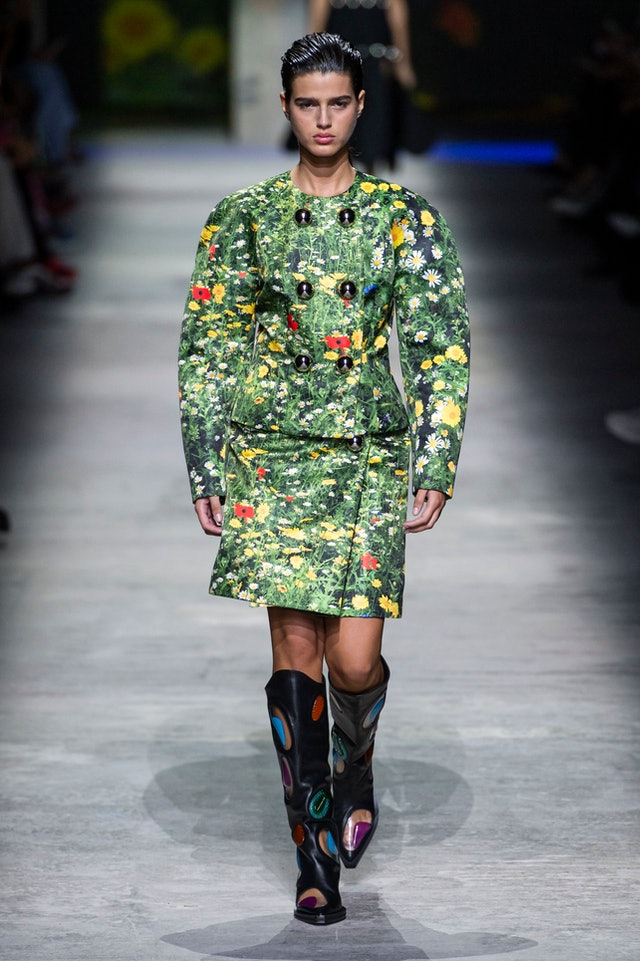 Rainforest trend for Spring 2020 at Christopher Kane