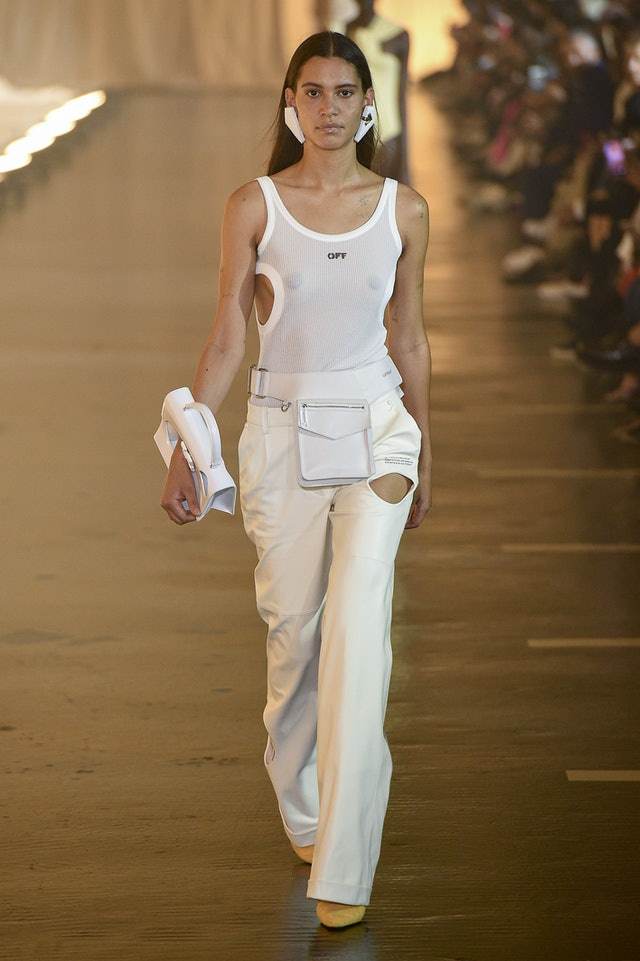 Minimalist trend for Spring 2020 at Off-White