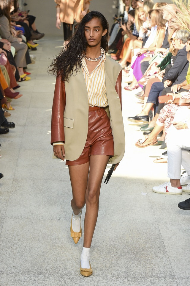 shorts suit trend for spring 2020 at Ferragamo