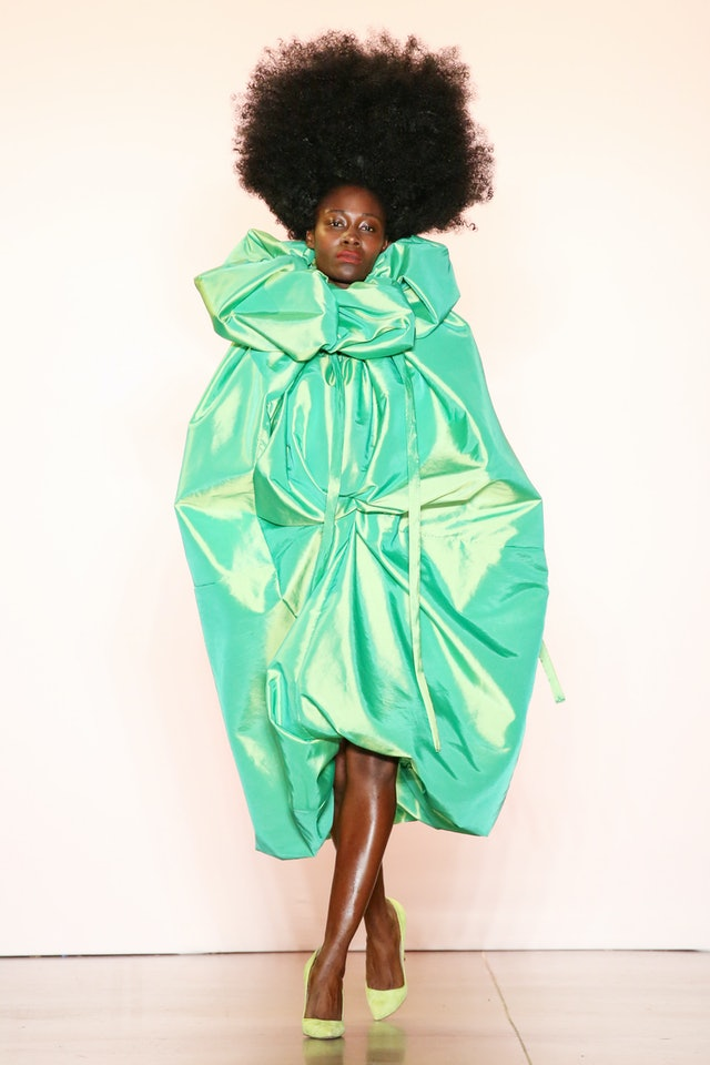 Voluminous gown runway trend spring 2020 at Christopher John Rogers