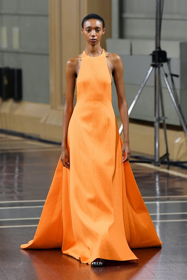 Spring 2020 Orange trend at Emilia Wickstead