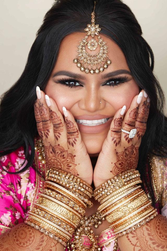 Nabela Noor wears the Nabela Noor x e.l.f. Cosmetics collection makeup