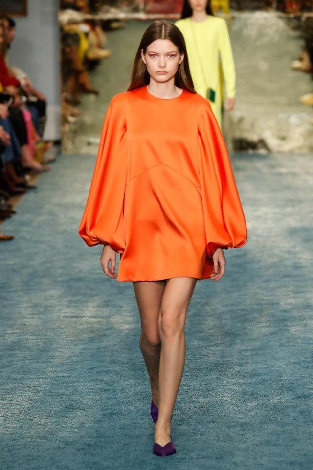 A model walks the runway at the Carolina Herrera show during New York Fashion Week Fall 2019.