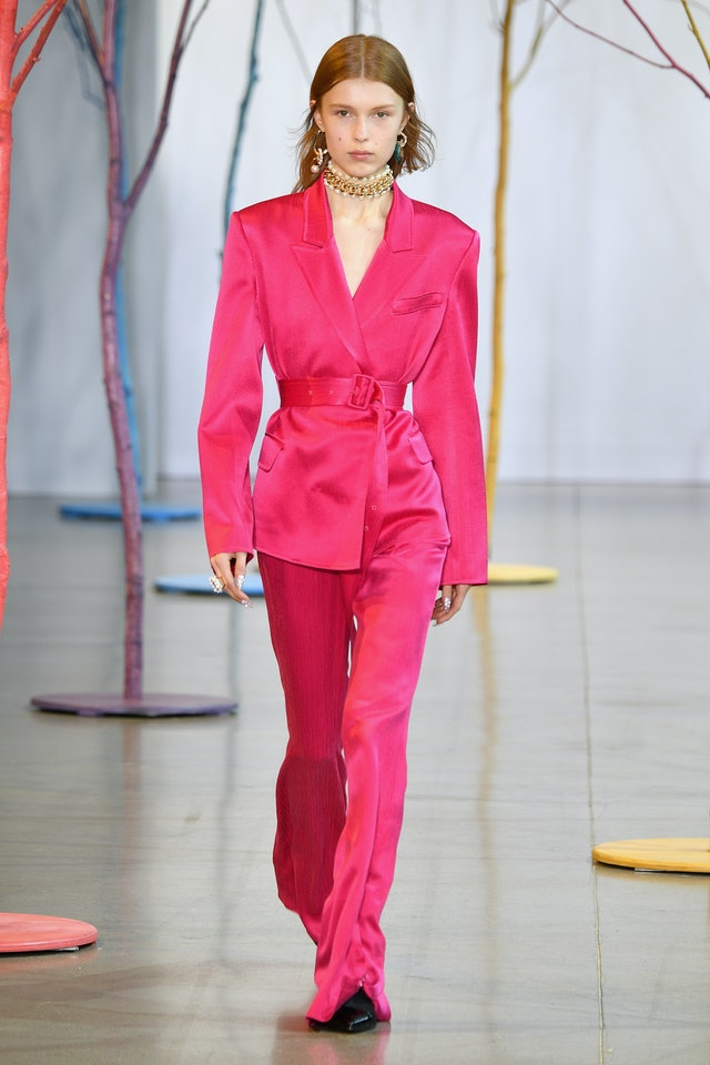 A model walks the runway at the Adeam Fashion show during New York Fashion Week Fall 2019.