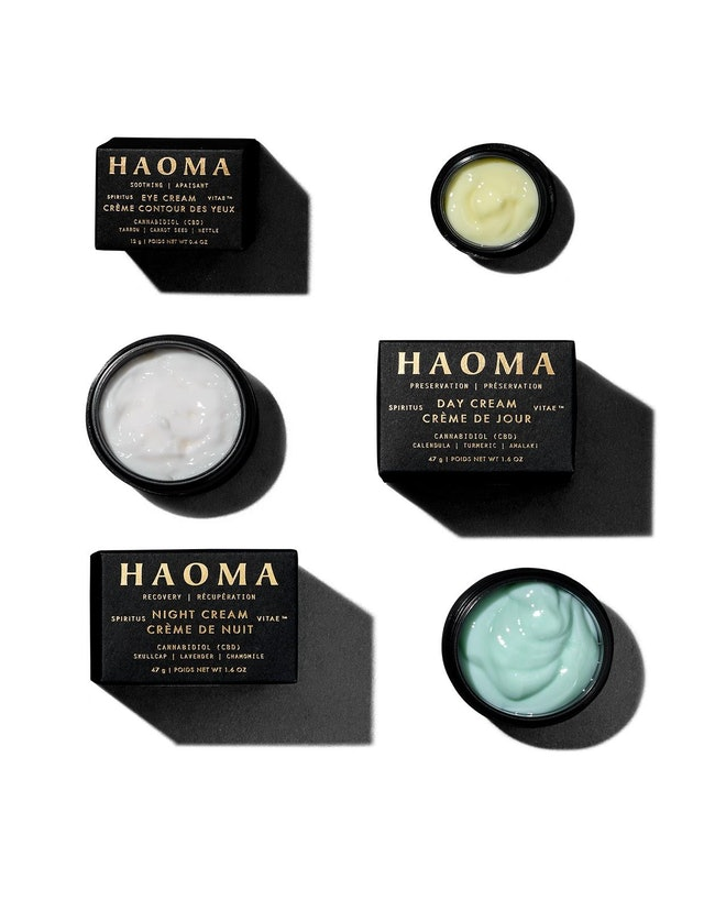 Eye cream, day cream, and night cream from new skincare brand HAOMA
