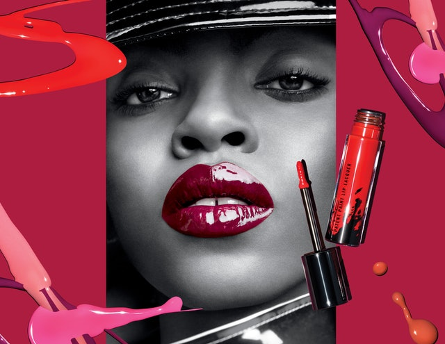 MAC's Patent Paint Lip Lacquer features 15 shiny shades