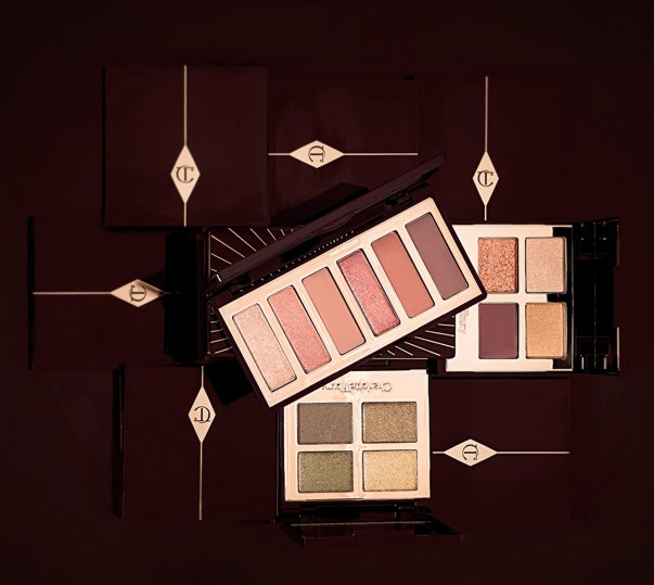 The new Charlotte Tilbury Queen of Glow Luxury Palette, The Rebel Luxury Palette, and Charlotte Darling Easy Eye Palette