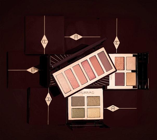 The new Charlotte Tilbury Queen of Glow Luxury Palette, The Rebel Luxury Palette, and Charlotte Darling Easy Eye Palette