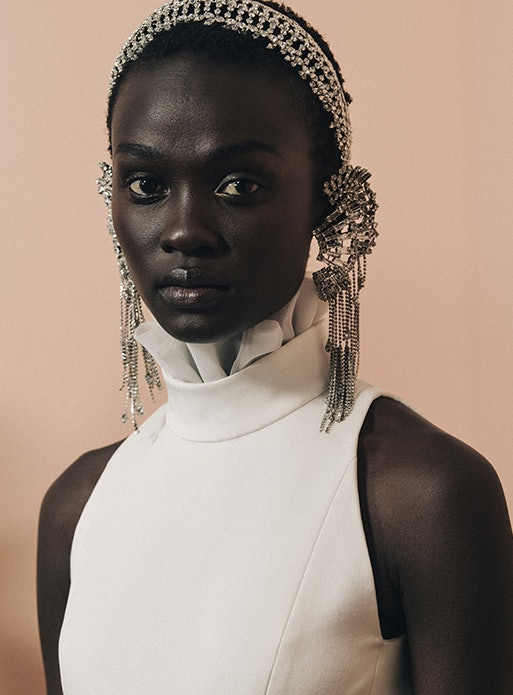 Haute Couture Spring 2020 hair accessories from Givenchy.