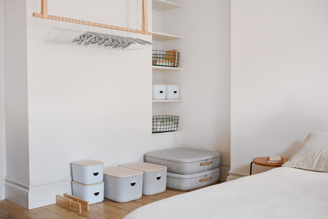 Tools for organizing your bedroom from home organization brand, Open Spaces.