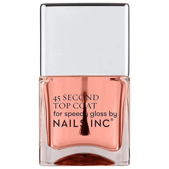 Nails Inc. Retinol 45 Second Top Coat in bottle.